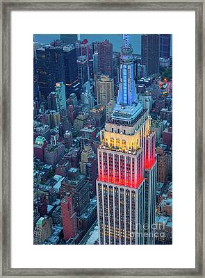 Tricolor Empire State Building Framed Print