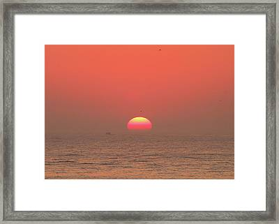 Framed Print featuring the photograph Tricolor Sunrise by Robert Banach