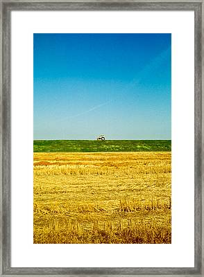 Tricolor With Tractor Framed Print