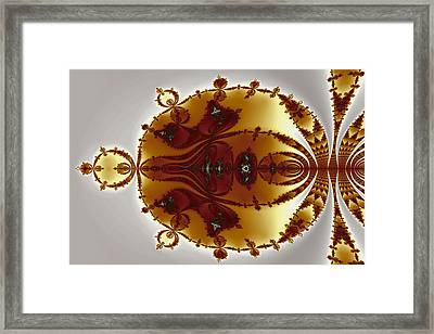 Tricorns Mandelbrot Enclosed Framed Print by Mark Eggleston