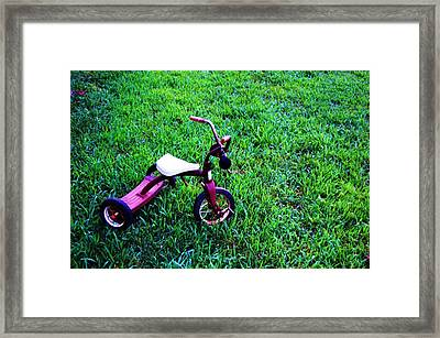 Tricycle Framed Print by Beverly Hammond