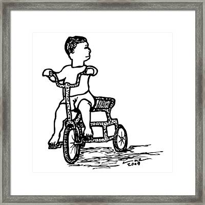 Tricycle Framed Print by Karl Addison
