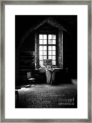 Tridentine Mass In An Ancient Chapel In The Old Dominican Monastery In Tallinn Framed Print by RicardMN Photography