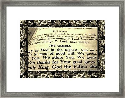 Tridentine Missal Framed Print