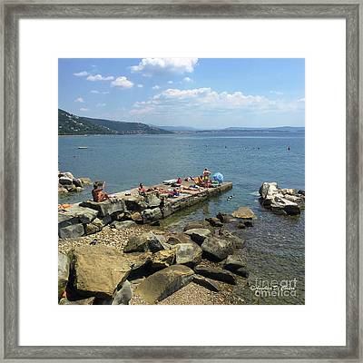 Trieste Miramare Beach Framed Print by Italian Art