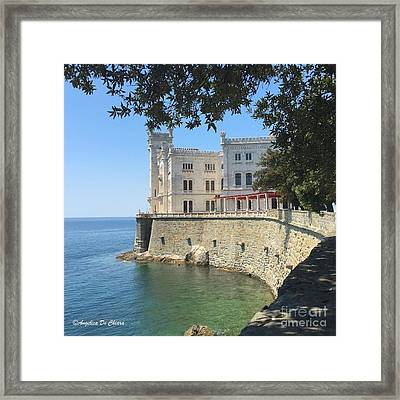 Trieste- Miramare Castle Framed Print by Italian Art