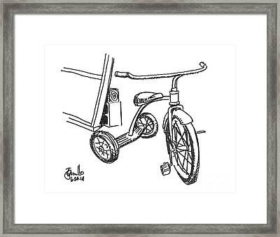 Trike Framed Print by Andrew Cravello
