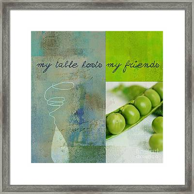 Triloli Kitchen Decor - Green Tx51  Framed Print by Variance Collections