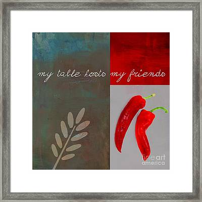 Trilioli Kitchen Decor - Red 153z Framed Print by Variance Collections