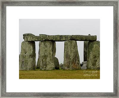 Trilithons Framed Print by Priscilla Richardson