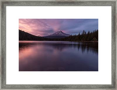 Framed Print featuring the photograph Trillium Lake Glow by Patricia Davidson
