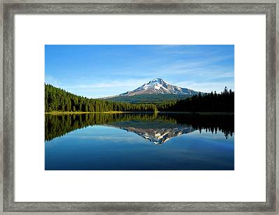 Trillium Lake Mt Hood Fall Framed Print