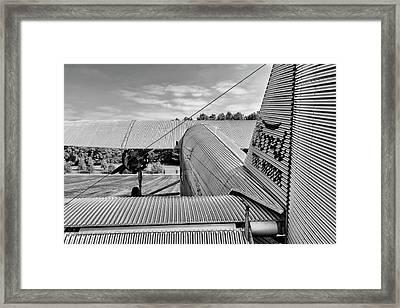 Trimotor Tail View - 2017 Christopher Buff, Www.aviationbuff.com Framed Print