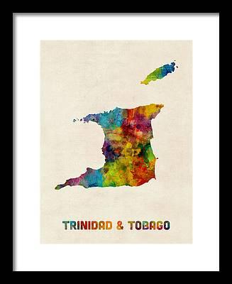 Trinidad Digital Art Framed Prints