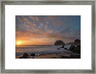 Trinidad Beach Sunset Framed Print