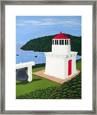 Trinidad Head Lighthouse Framed Print by Frederic Kohli