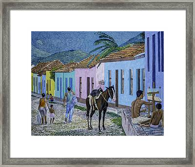 Trinidad Lifestyle 28x22in Oil On Canvas  Framed Print