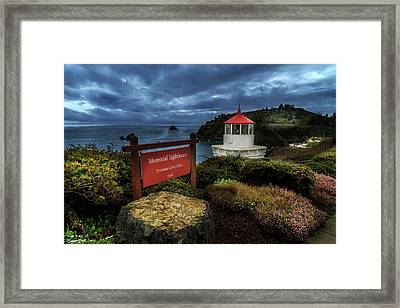 Framed Print featuring the photograph Trinidad Memorial Lighthouse by James Eddy