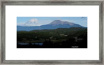 Trinidad Overlook Framed Print by Greg Patzer