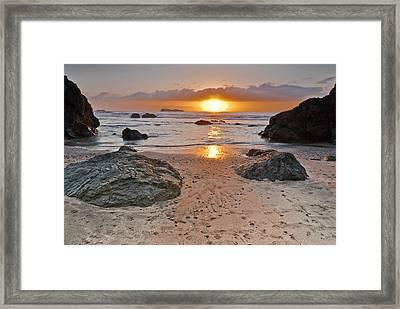 Trinidad State Beach Sunset Framed Print