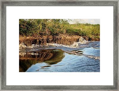 Trinidad Water Reflection Framed Print