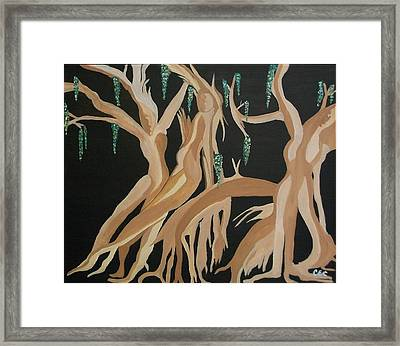 Framed Print featuring the painting Trinity   The Banyan Tree by Carolyn Cable
