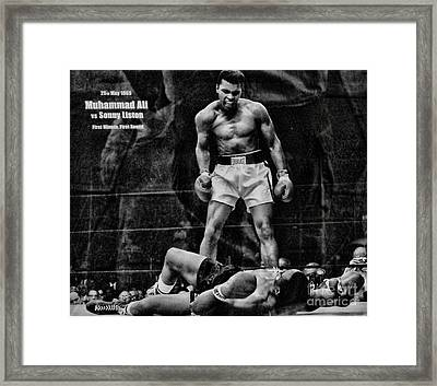 Trinity Boxing Gym Ali Vs Liston  Framed Print