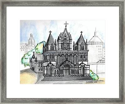Trinity Church Boston Framed Print by Paul Meinerth