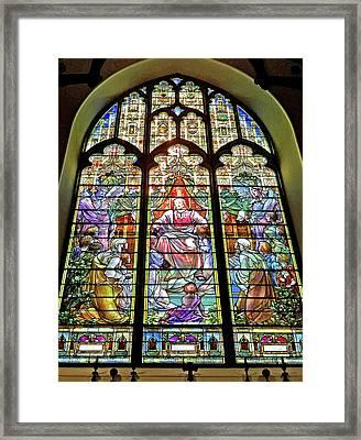Framed Print featuring the photograph Trinity Church Galveston by Wilhelm Hufnagl