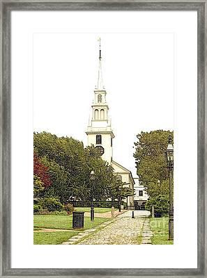 Trinity Church In Newport Ri Framed Print by Diane E Berry