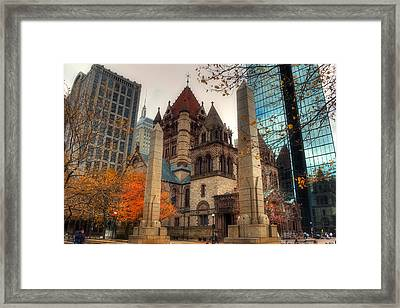 Trinity Church Framed Print by Joann Vitali