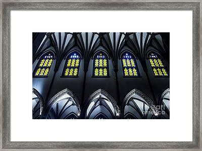 Trinity Church Nave And Aisle Framed Print