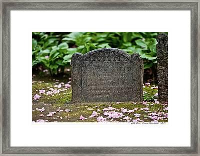 Trinity Church Tombstone Framed Print