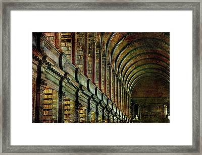 Trinity College Library Framed Print