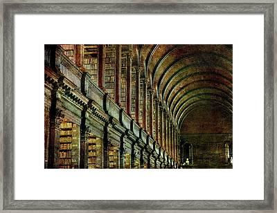 Trinity College Library Framed Print by Vittorio Chiampan