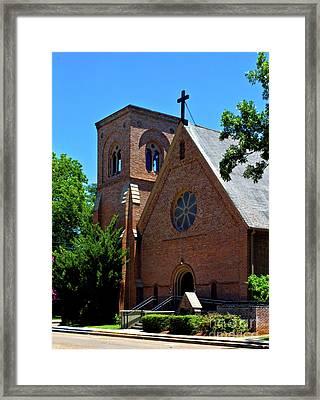 Framed Print featuring the photograph Trinity Episcopal Church by Ken Frischkorn