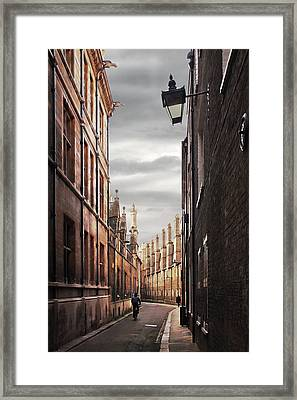Trinity Lane Cambridge Framed Print by Gill Billington