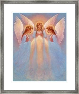 Trinity Of Angels Framed Print by Jack Shalatain
