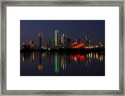 Trinity River Dallas Framed Print