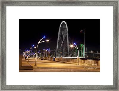 Trinity Sky Bridge In Downtown Dallas, Texas Framed Print by Anthony Totah