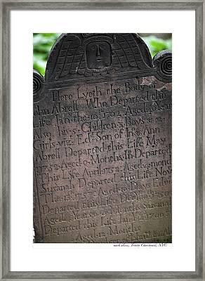 Trinity Tombstone Framed Print