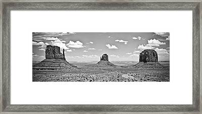 Trio    Left And Right Mittens And Merrick Butte  Framed Print by Ryan Kelly