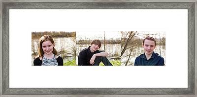 Trio 1 Framed Print by Rebecca Cozart