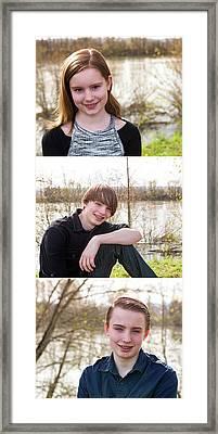 Trio 2 Framed Print by Rebecca Cozart