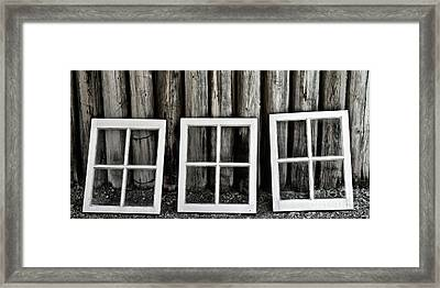 Framed Print featuring the photograph Trio by Brad Allen Fine Art