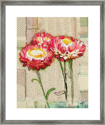 Framed Print featuring the painting Trio by Carrie Joy Byrnes