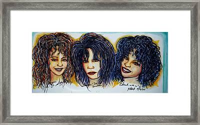 Trio Framed Print by Joseph Lawrence Vasile