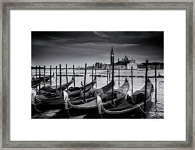 Trio Of Gondolas Framed Print