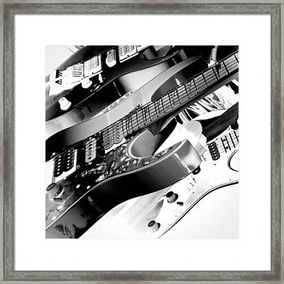 Trio Of Guitars Framed Print by David Patterson