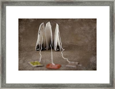 Trio Of Teabags Framed Print